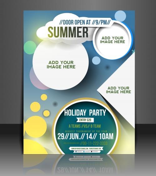 Флаеры и бизнес брошюры, 4 / Vector puzzle business brochure, flyer 4