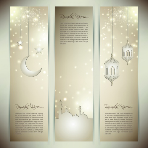 Islamic Banners Vector