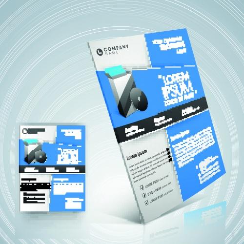 Профессиональные бизнес флаеры | Professional business flyer template vector