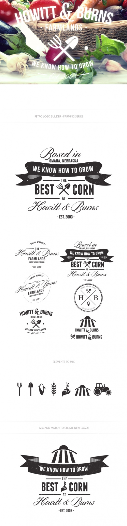 Farming Logo Vector Templates