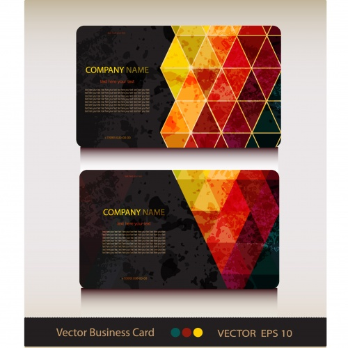 Set of business card in geometric style