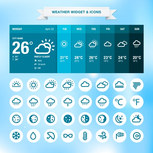 Weather widget template