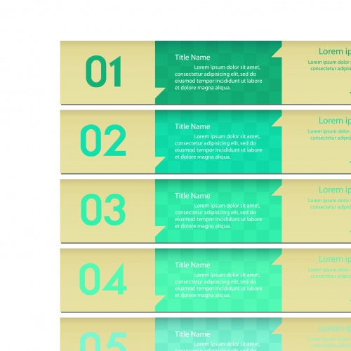 Баннеры с номерами часть 24 | Banners with numbers vector set 24