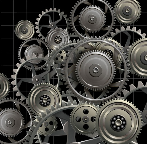 Technology metallic background