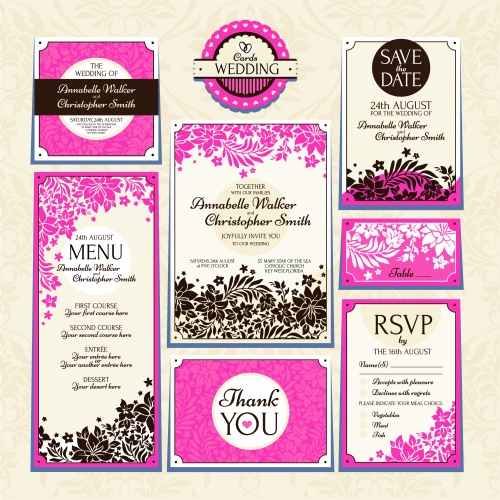 Vintage invitation cards