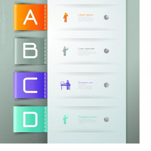 Инфографики креативный дизайн часть 86 | Infographic creative design vector set 86