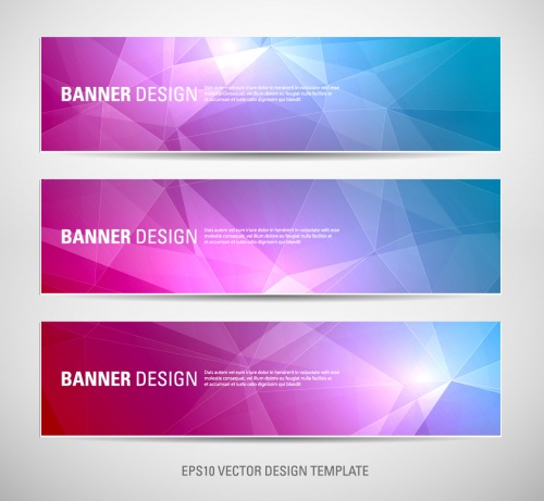 Set of modern brochure and banners