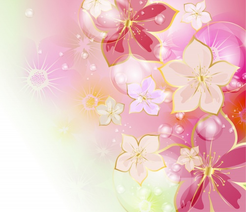 Stock: Colorful floral background