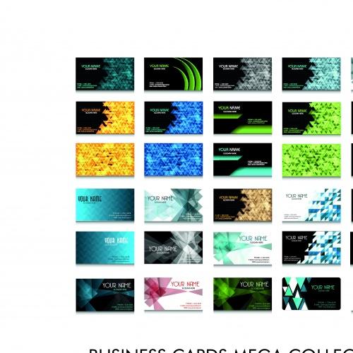 Элегантные бизнес карточки 12 | Elegant business cards vector 12