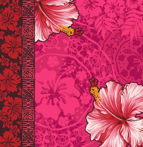 Разноцветные цветочные фоны в векторе / Color floral vintage backgrounds - vector stock