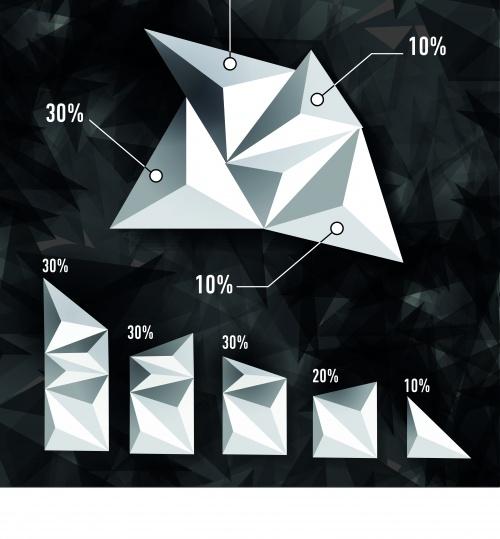 Инфографики креативный дизайн часть 80 | Infographic creative design vector set 80
