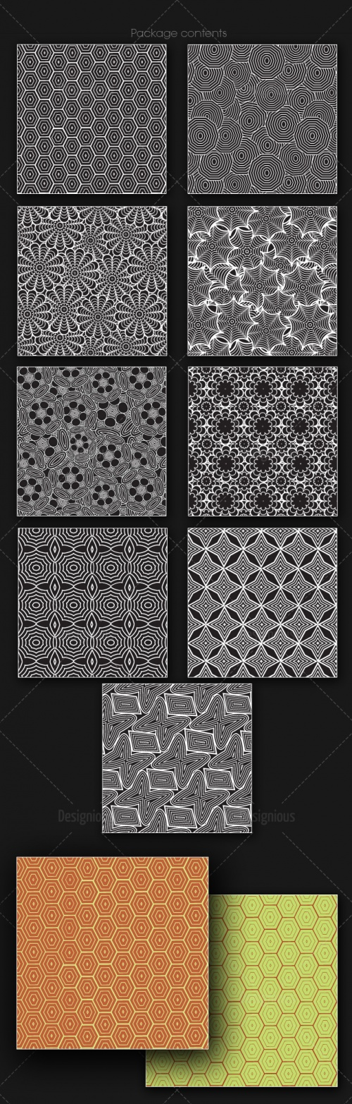 Seamless Patterns Vector Pack 165