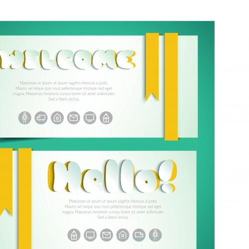 Стильные торговые карточки отктрытки 2 | Stylish shopping greetings cards vector 2