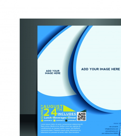 Бизнес флаеры брошюры и обложка журнала часть 7 | Business flyer brochure and magazine cover vector 7
