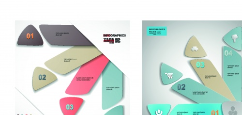 Infographic creative design vector set 70