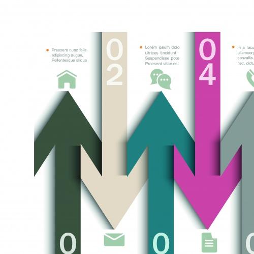 Infographic creative design vector set 70