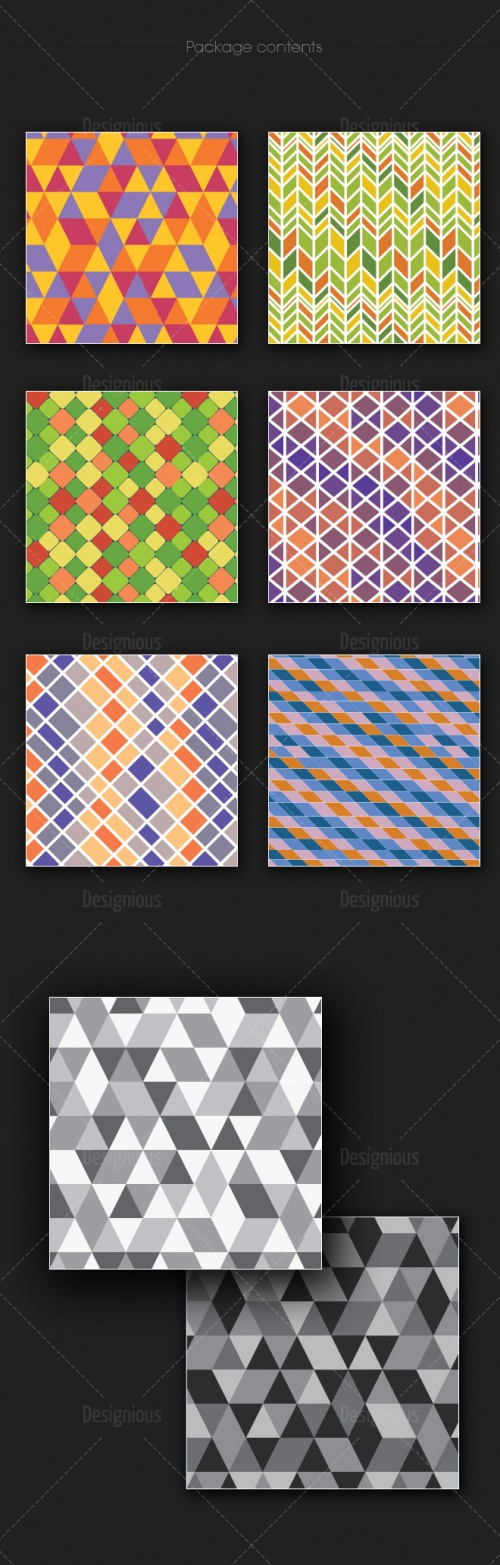 Seamless Patterns Vector Pack 170