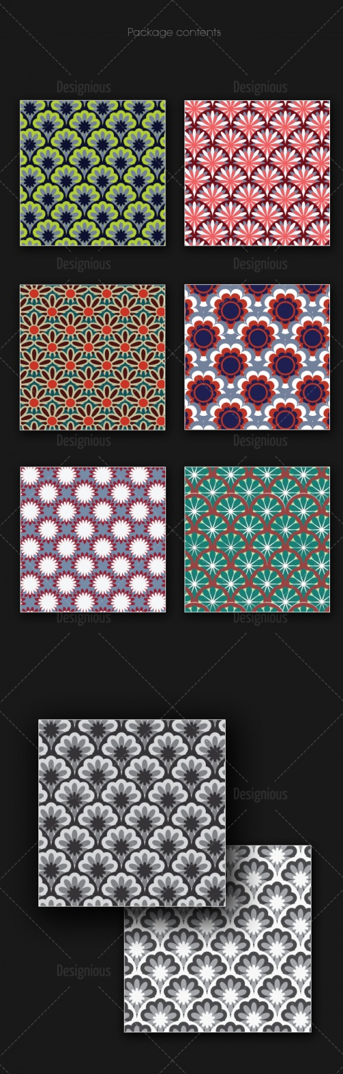 Seamless Patterns Vector Pack 164