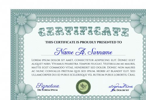 Сертификаты и дипломы часть 32 | Certificate and Diploma vector set 32