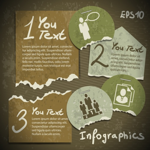 Infographic design in vitage style