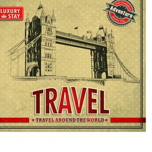 Путешествие постеры в ретро стиле | Travel poster retro vector