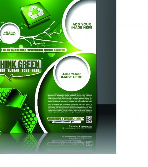 Бизнес флаеры брошюра и обложка журнала 10 | Business flyer brochure and magazine cover vector 10