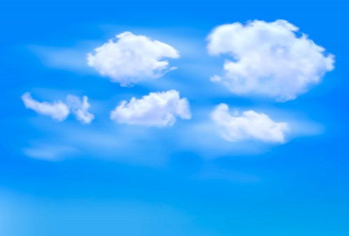 Blue sky with clouds concept