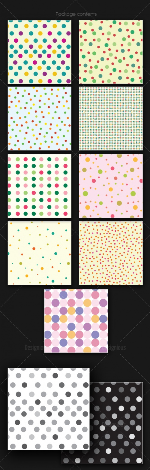Seamless Patterns Vector Pack 166