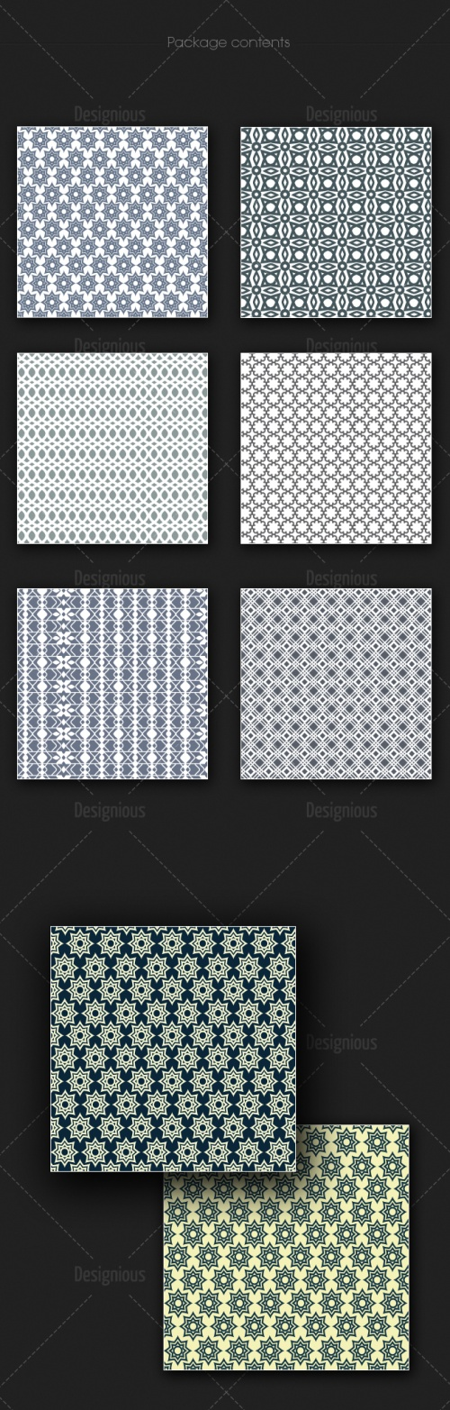 Seamless Patterns Vector Pack 169