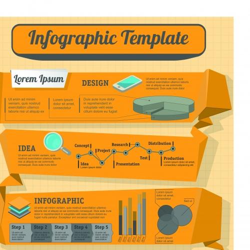 Инфографики креативный дизайн часть 78 | Infographic creative design vector set 78