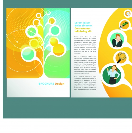 Бизнес брошюра часть 40 | Business brochure vector set 40