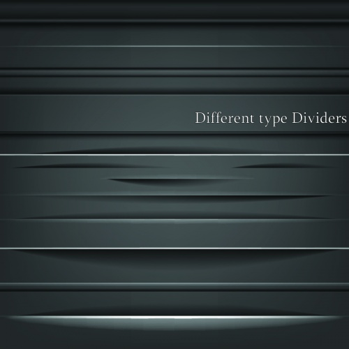 White & Black Dividers Vector