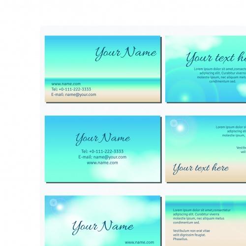 Голубое небо бизнес карточки и корпоративный стиль | Blue sky business cards and corporate style vector