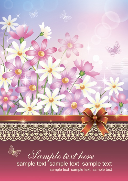 Summer card with flower