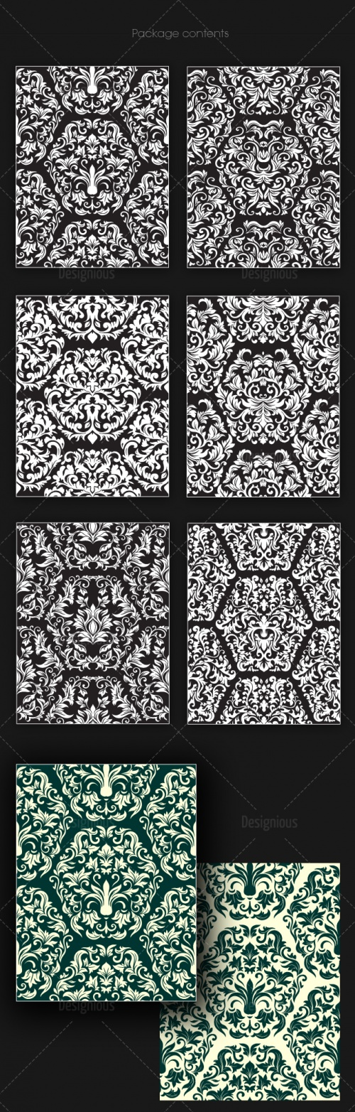 Seamless Patterns Vector Pack 151