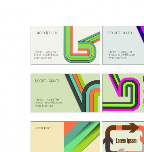 Элегантные бизнес карточки часть 9 | Elegant business cards vector 9