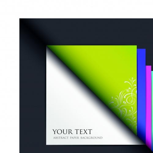 Чистый лист бумаги и цветная бумага фоны | Blank paper and colored paper vector background