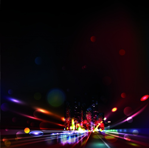 Night City Lights Vector