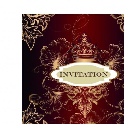 Роскошные свадебные приглашения | Luxury wedding invitation vector