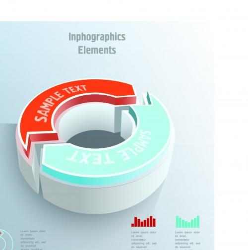 Инфографики креативный дизайн часть 79 | Infographic creative design vector set 79