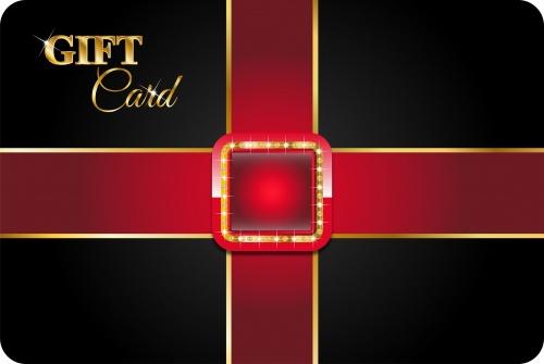 Подарочные карточки в векторе / Gift card in vector stock