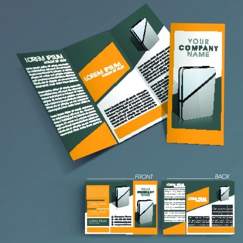 Бизнес брошюра из трёх станиц часть 39 | Tri fold business brochure vector set 39