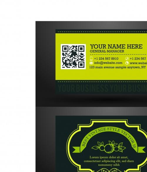 Элегантные бизнес карточки 10 | Elegant business cards vector 10