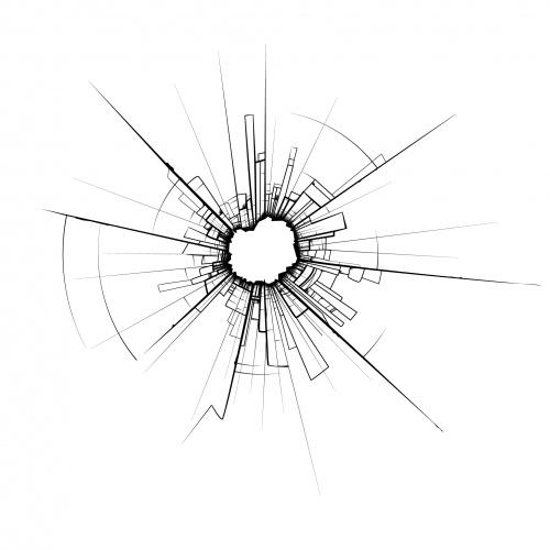 Разбитое стекло - Векторный клипарт | Broken glass - Stock Vectors