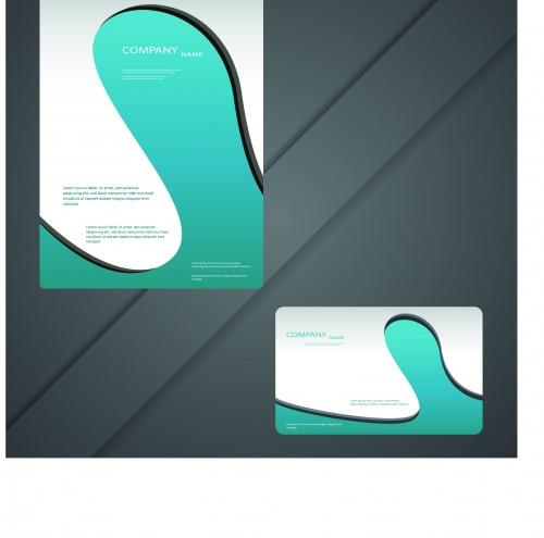 Современные брошюры и бизнес карточки | Modern brochure and business card vector