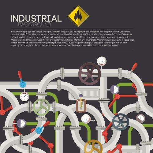 Индустриальные векторные фоны / Industrial vector backgrounds
