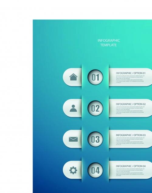 Инфографики креативный дизайн часть 58 | Infographic creative design vector set 58
