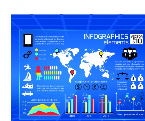 Infographic creative design vector set 64