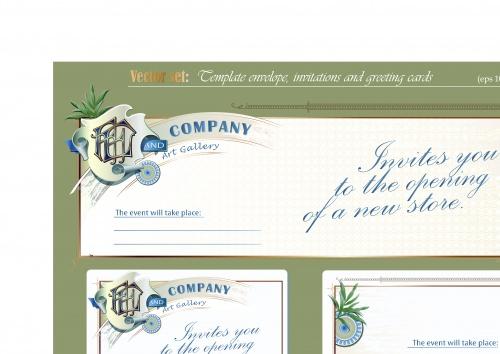 Пригласительные и открытки | Invitations and greeting cards vector