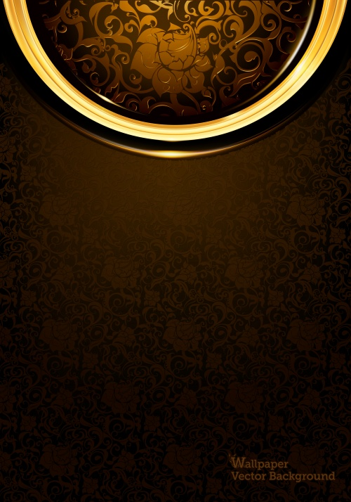 Stock: Dark backgrounds with stylish pattern, ornament